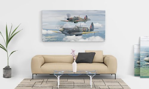 spitfire and hurricane canvas