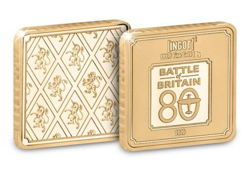 1g gold ingot battle of britain