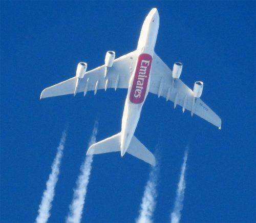 picture of emirates airbus taken by nikon coolpix p1000